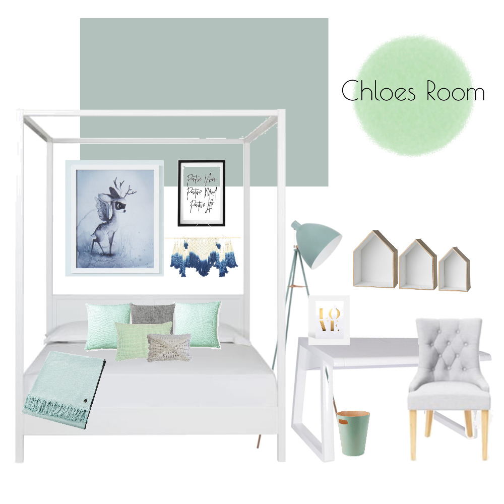 Chloes Room Mood Board by Clare on Style Sourcebook