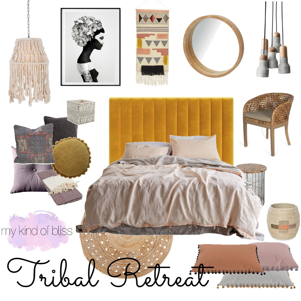 Tribal Retreat Mood Board by My Kind Of Bliss on Style Sourcebook
