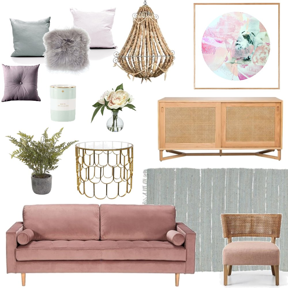 Luxe Boho Mood Board by Bloom Styling Co on Style Sourcebook