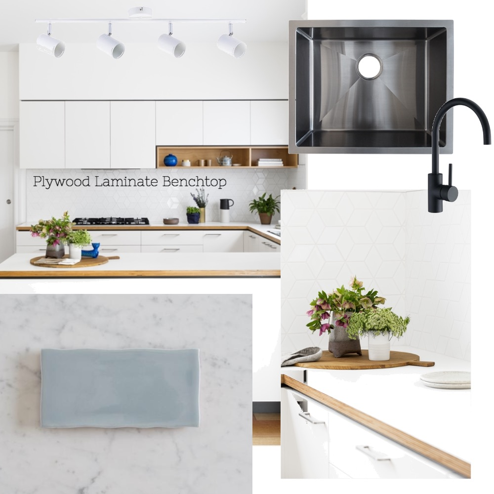 Lynne and Cam's kitchen - Plywood bench top Interior Design Mood Board by Nook on Style Sourcebook