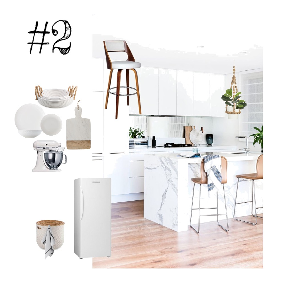 White Kitchen Interior Design Mood Board by sneakersandsoul on Style Sourcebook