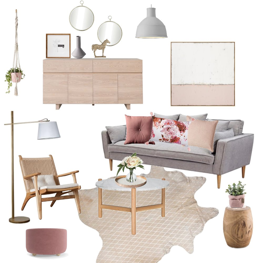 Blush Pony Interior Design Mood Board by Bloom Styling Co on Style Sourcebook
