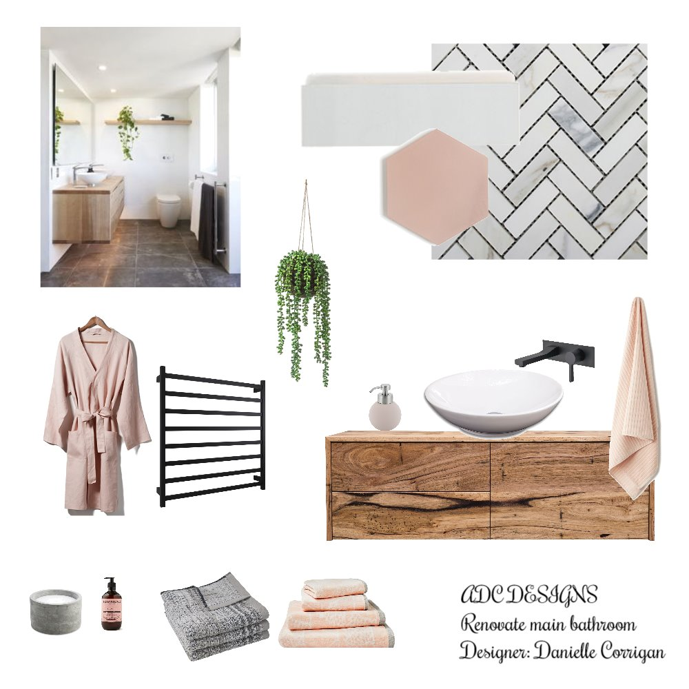 Noa bathroom Interior Design Mood Board by Danielle Corrigan on Style Sourcebook