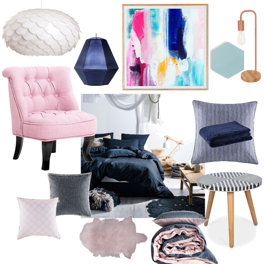 Dusk and Blue Bedroom Mood Board by Plush Design Interiors on Style Sourcebook