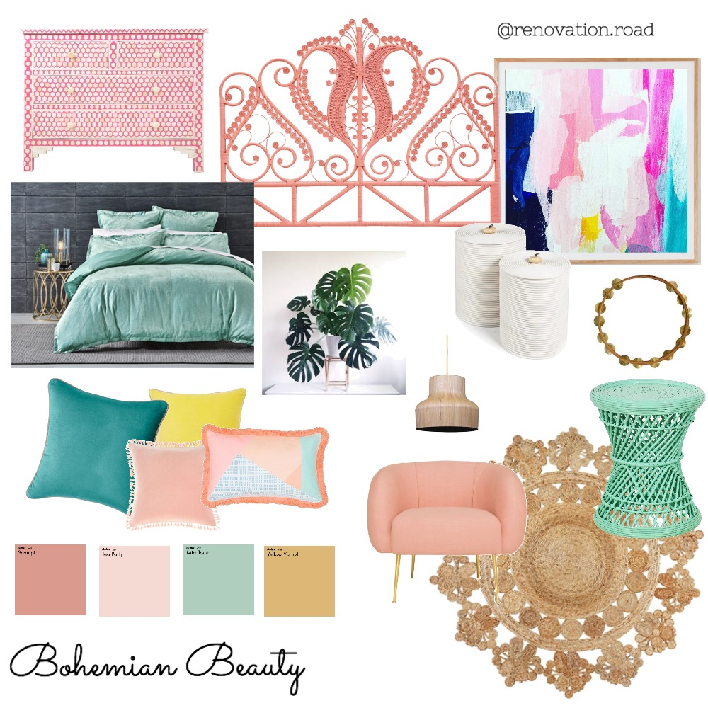Bohemian Beauty Interior Design Mood Board by Renovation Road on Style Sourcebook