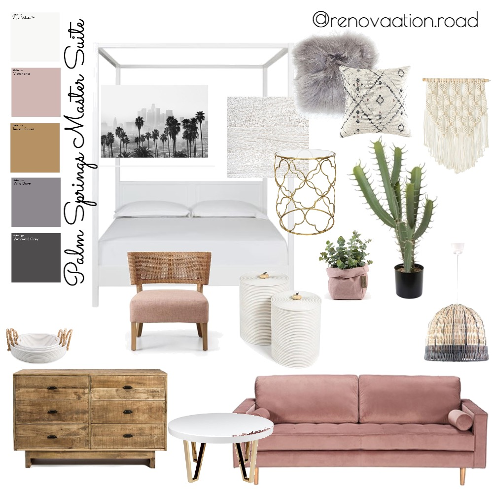 Palm Springs Master Suite Mood Board by Renovation Road on Style Sourcebook