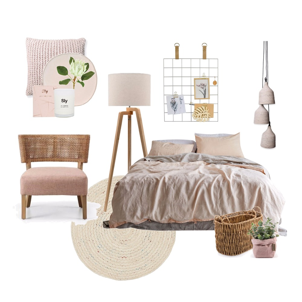 Muted Pinks Interior Design Mood Board by Thediydecorator on Style Sourcebook
