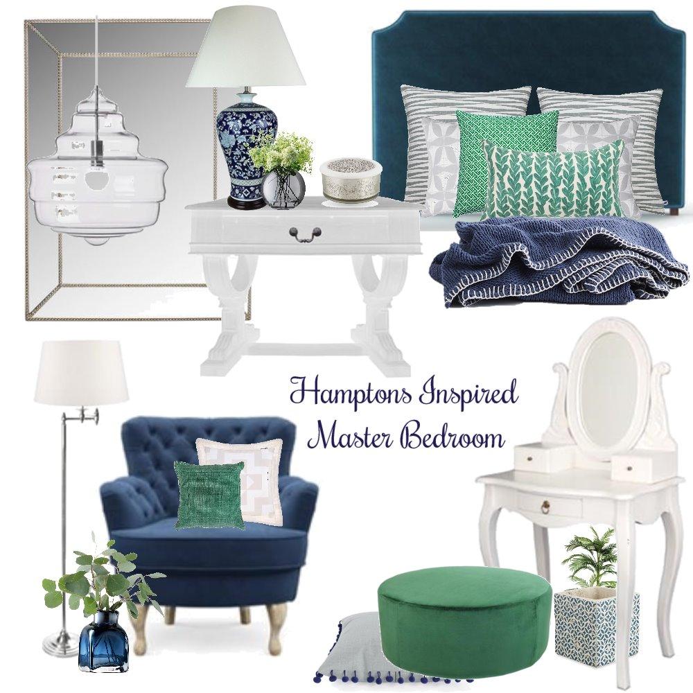 Concept 1 - Hamptons Bedroom Interior Design Mood Board by Tara Watson on Style Sourcebook