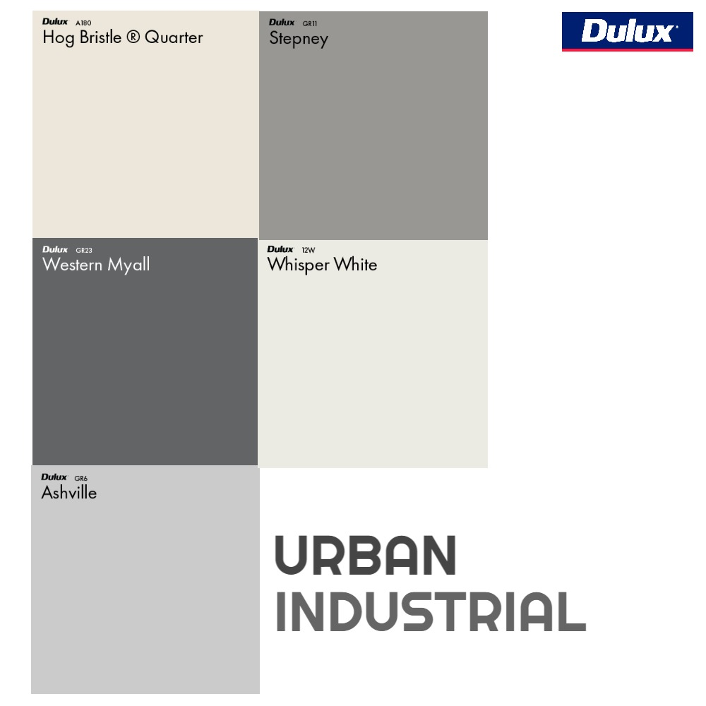 Dulux Urban Industrial Colour Palette Mood Board by Dulux Australia on Style Sourcebook