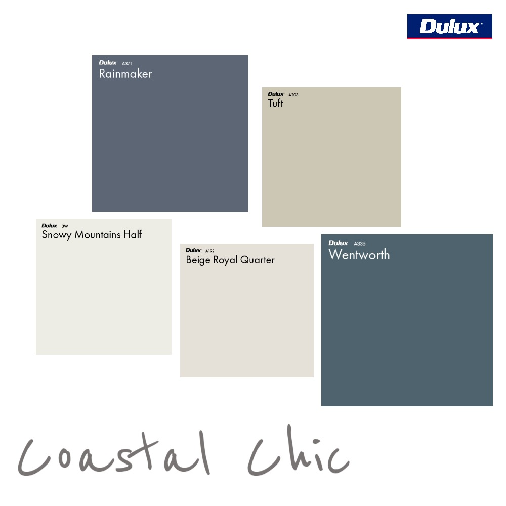 Dulux Coastal Chic Colour Palette Mood Board by Dulux Australia on Style Sourcebook