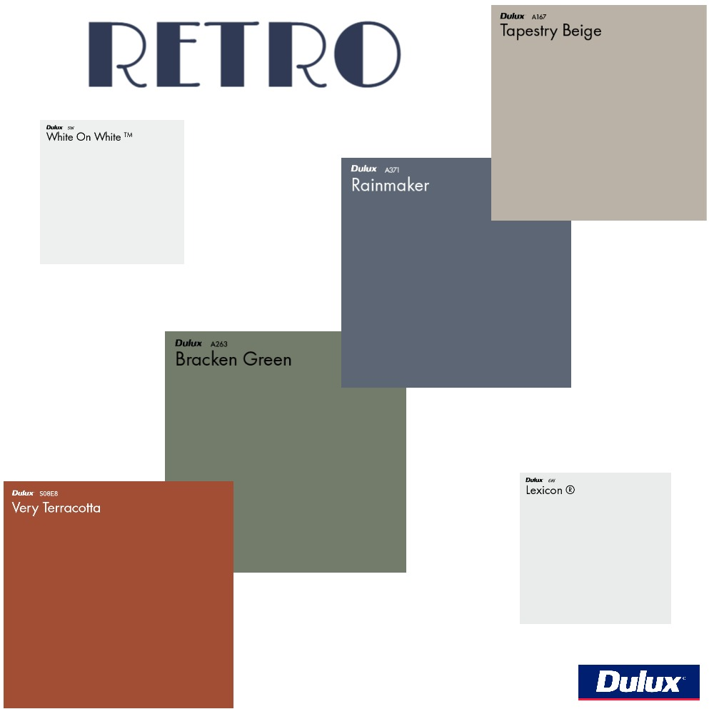 Dulux Retro Colour Palette Mood Board by Dulux Australia on Style Sourcebook