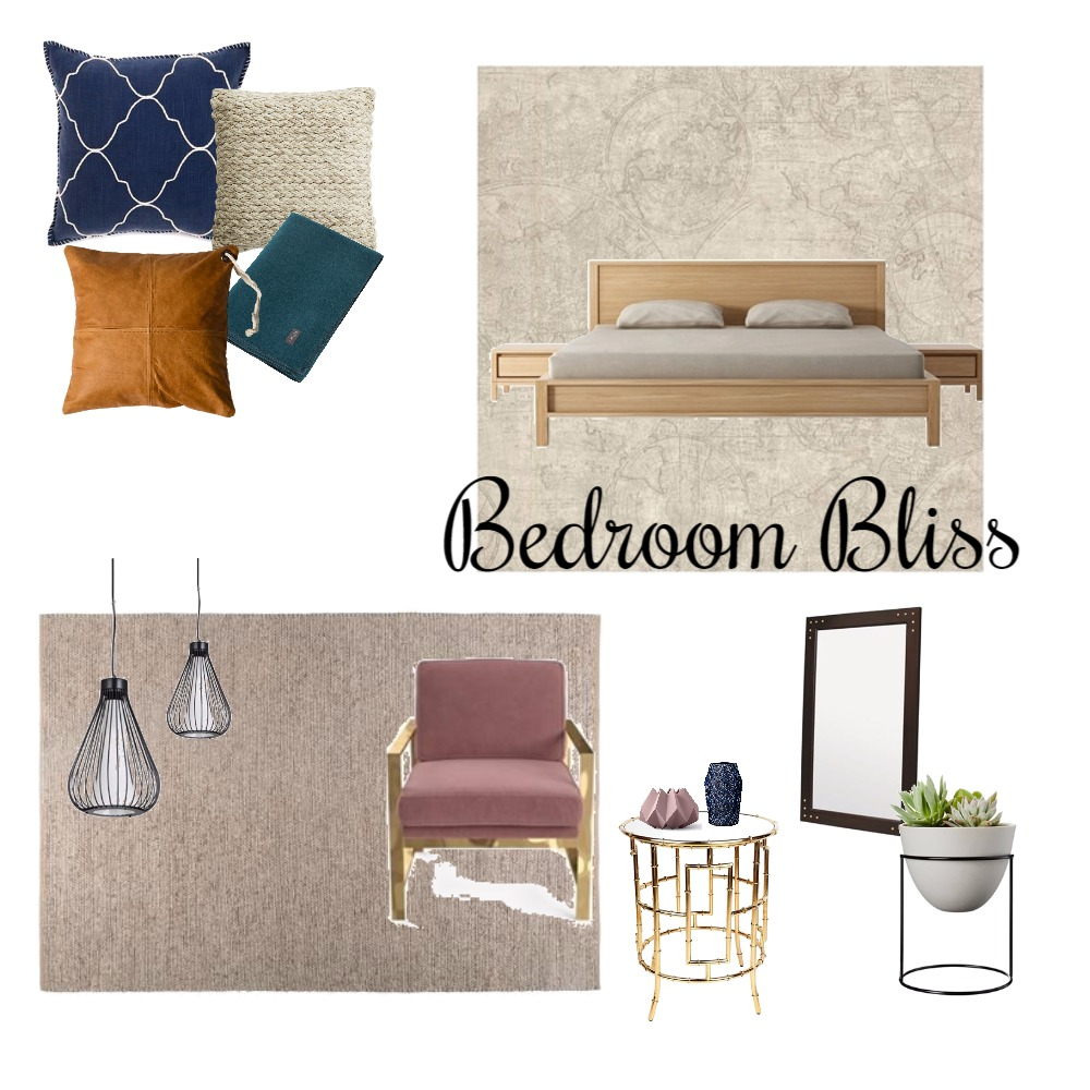 Bedroom Interior Design Mood Board by Lydia Sullivan Interiors on Style Sourcebook
