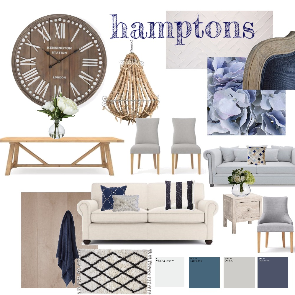 hamptons inspired Interior Design Mood Board by natashad on Style Sourcebook