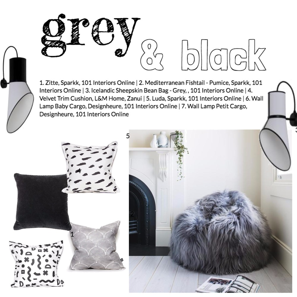 Grey & Black Mood Board by 101 Interiors Online on Style Sourcebook