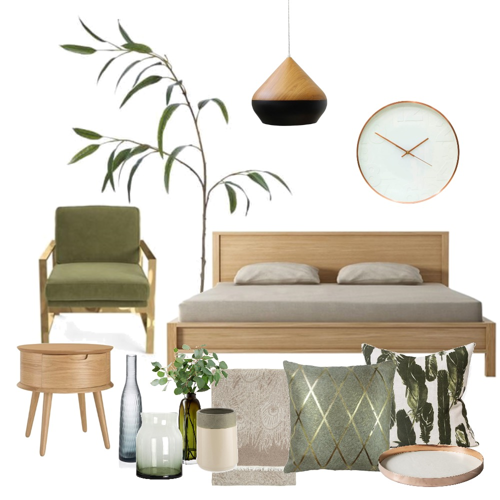 Eucalyptus Bedroom Mood Board by elkprints on Style Sourcebook