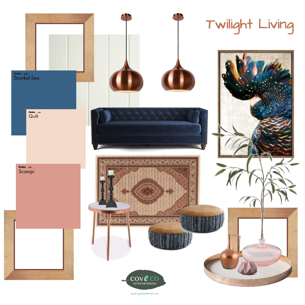 Twilight Living Interior Design Mood Board by Coveco Interior Design on Style Sourcebook