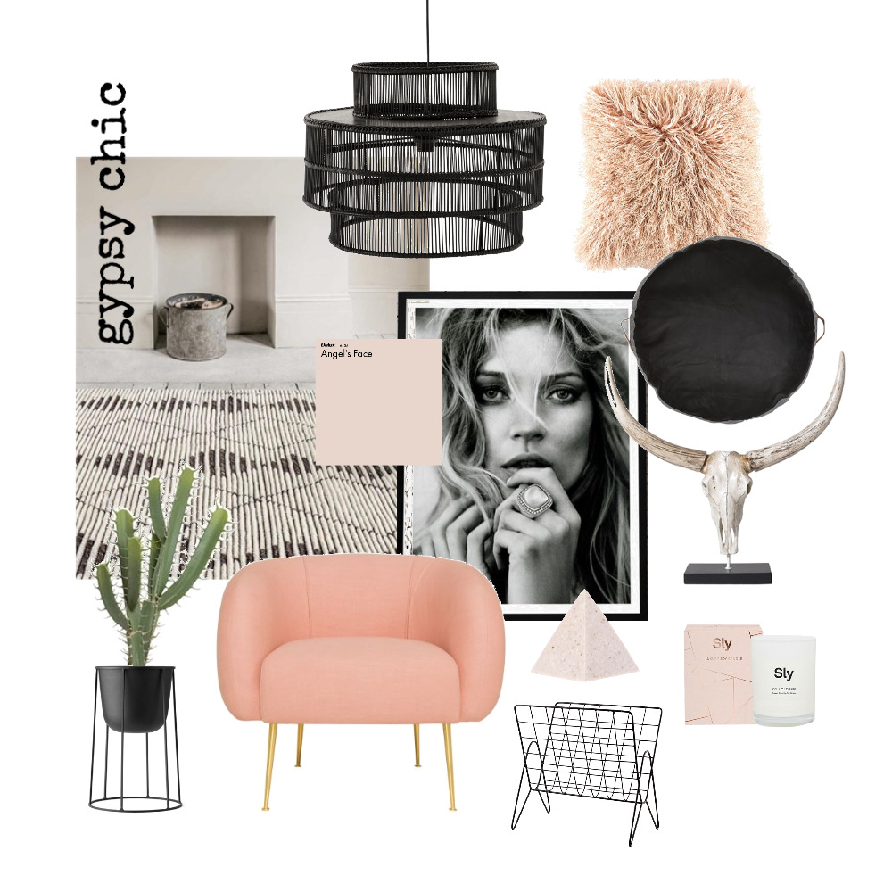 Gypsy Chic Living Room Mood Board by design_social on Style Sourcebook