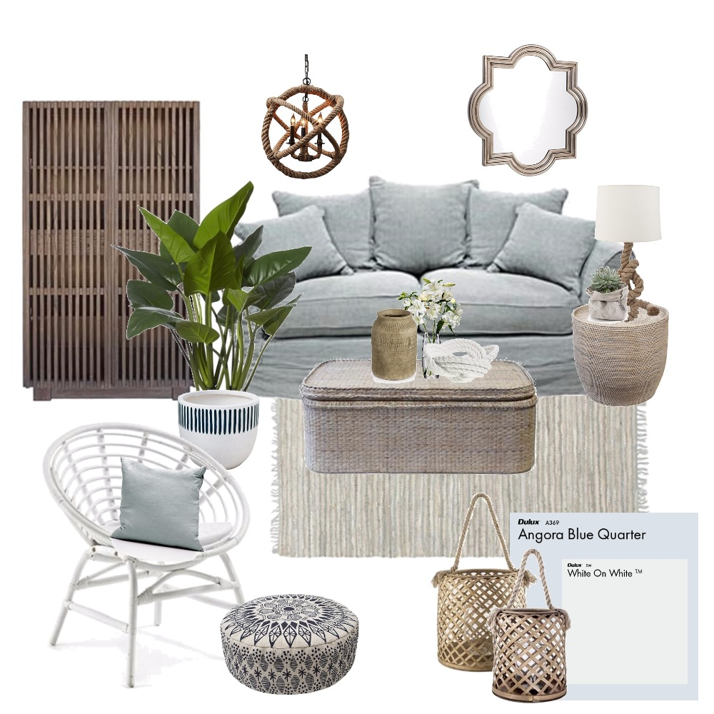 Rustic Coastal Interior Design Mood Board by Thediydecorator on Style Sourcebook