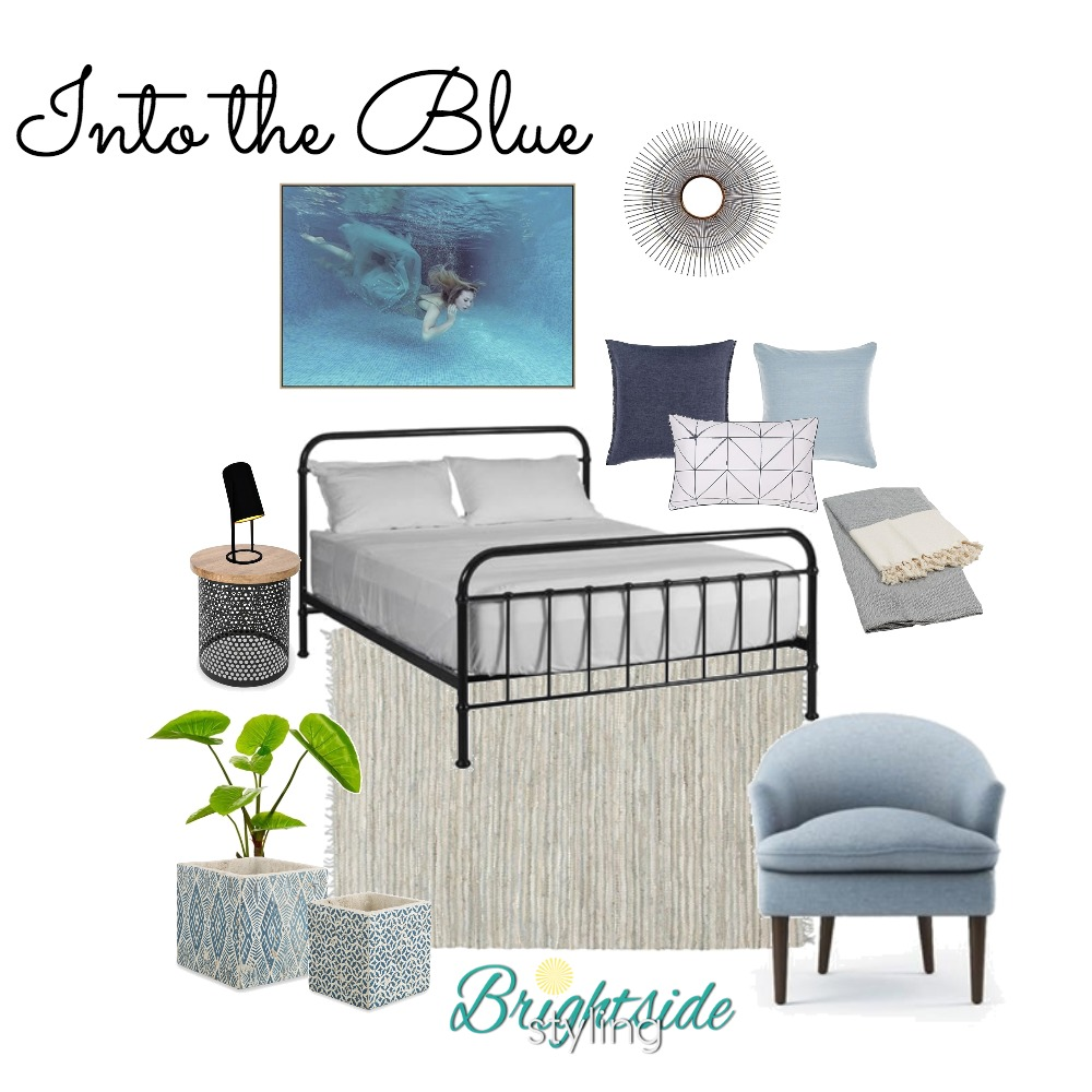 Into the Blue Interior Design Mood Board by brightsidestyling on Style Sourcebook