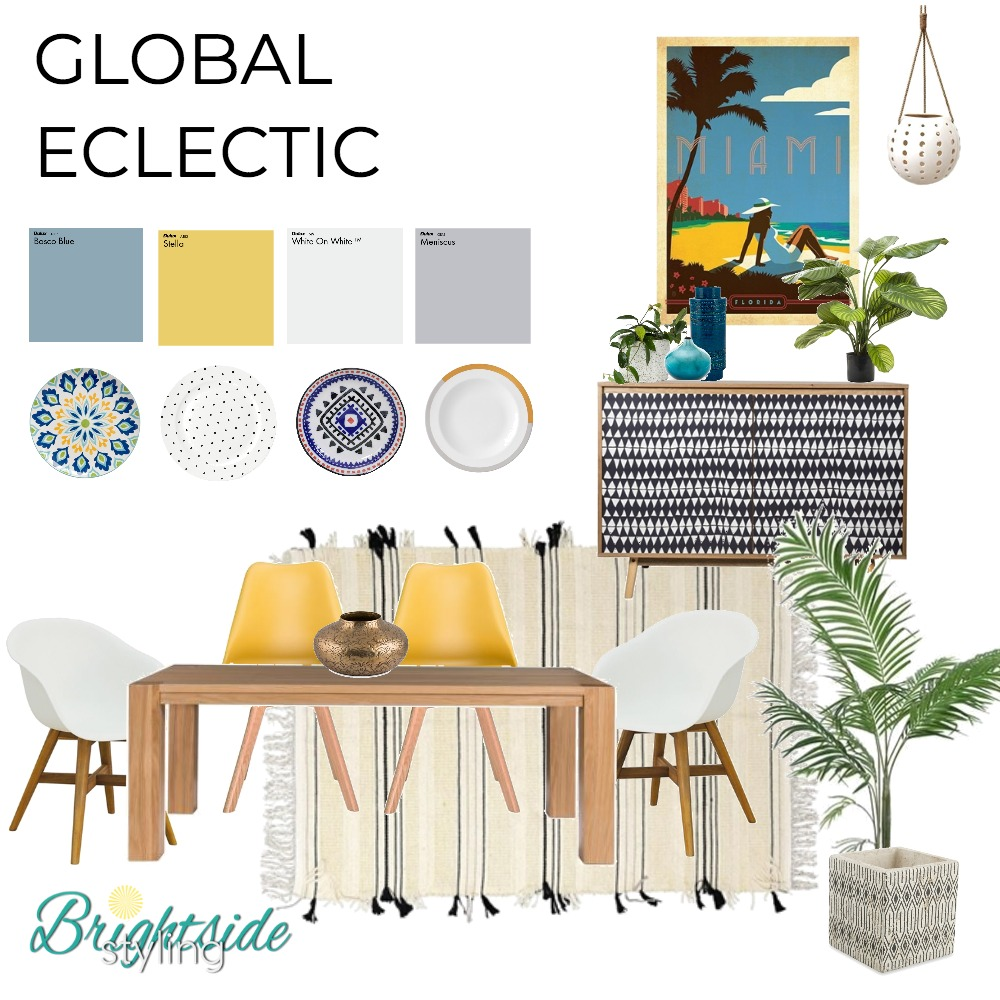 Global Eclectic Dining Mood Board by brightsidestyling on Style Sourcebook