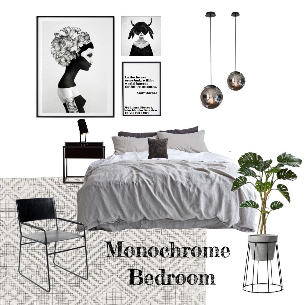 Monochrome Bedroom Mood Board by dearlittlehome on Style Sourcebook