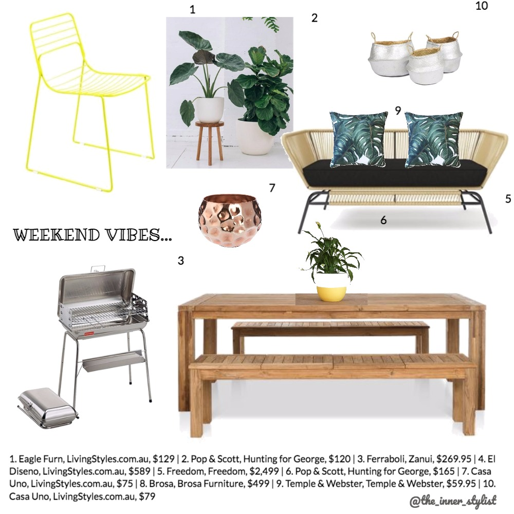 Weekend Vibes Mood Board by Plant some Style on Style Sourcebook