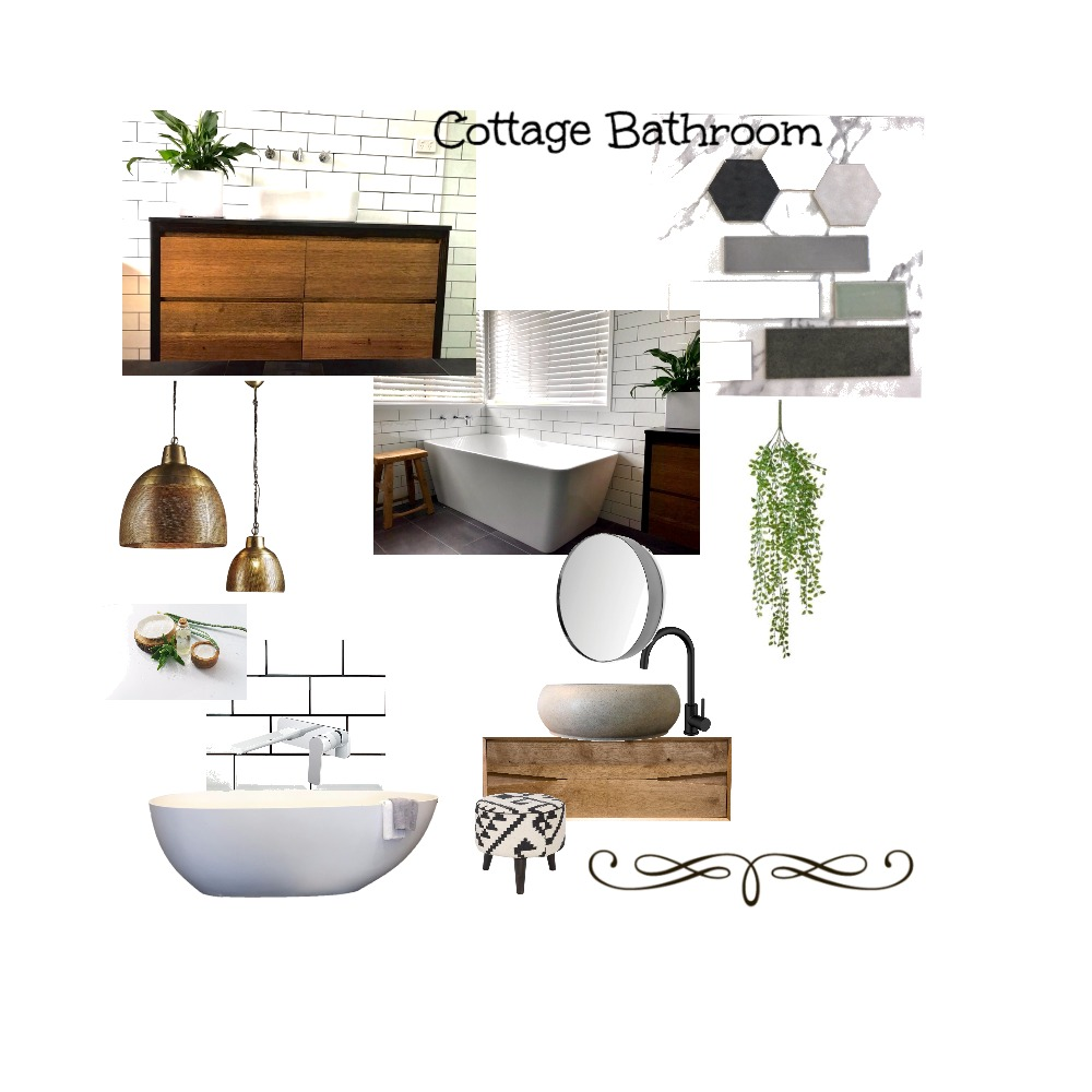 Cottage Bathroom Mood Board by Just In Place on Style Sourcebook