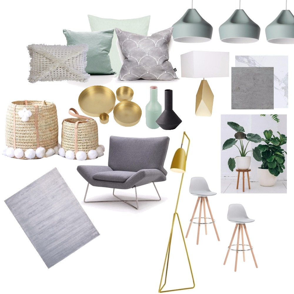 A6_Achromatic Mood Board by KAS on Style Sourcebook