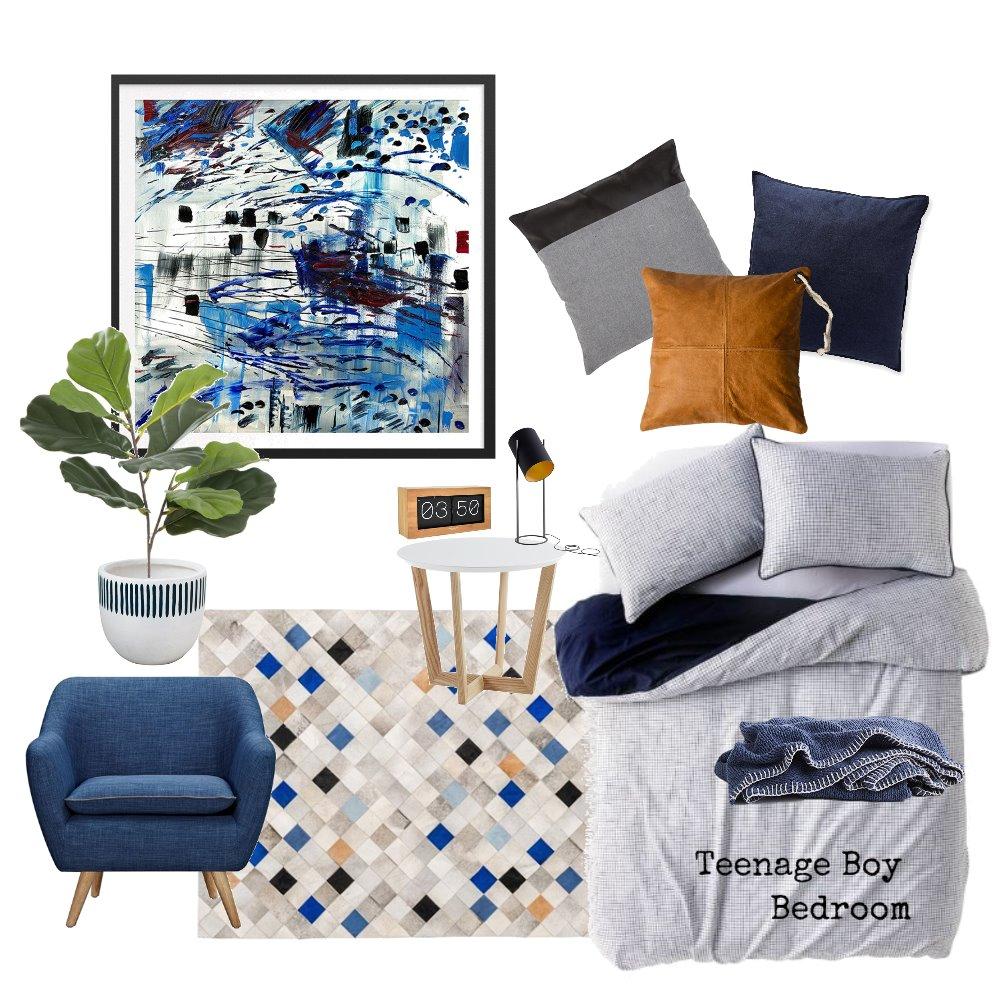 Teenage Boy Bedroom Mood Board by AnnabelFoster on Style Sourcebook
