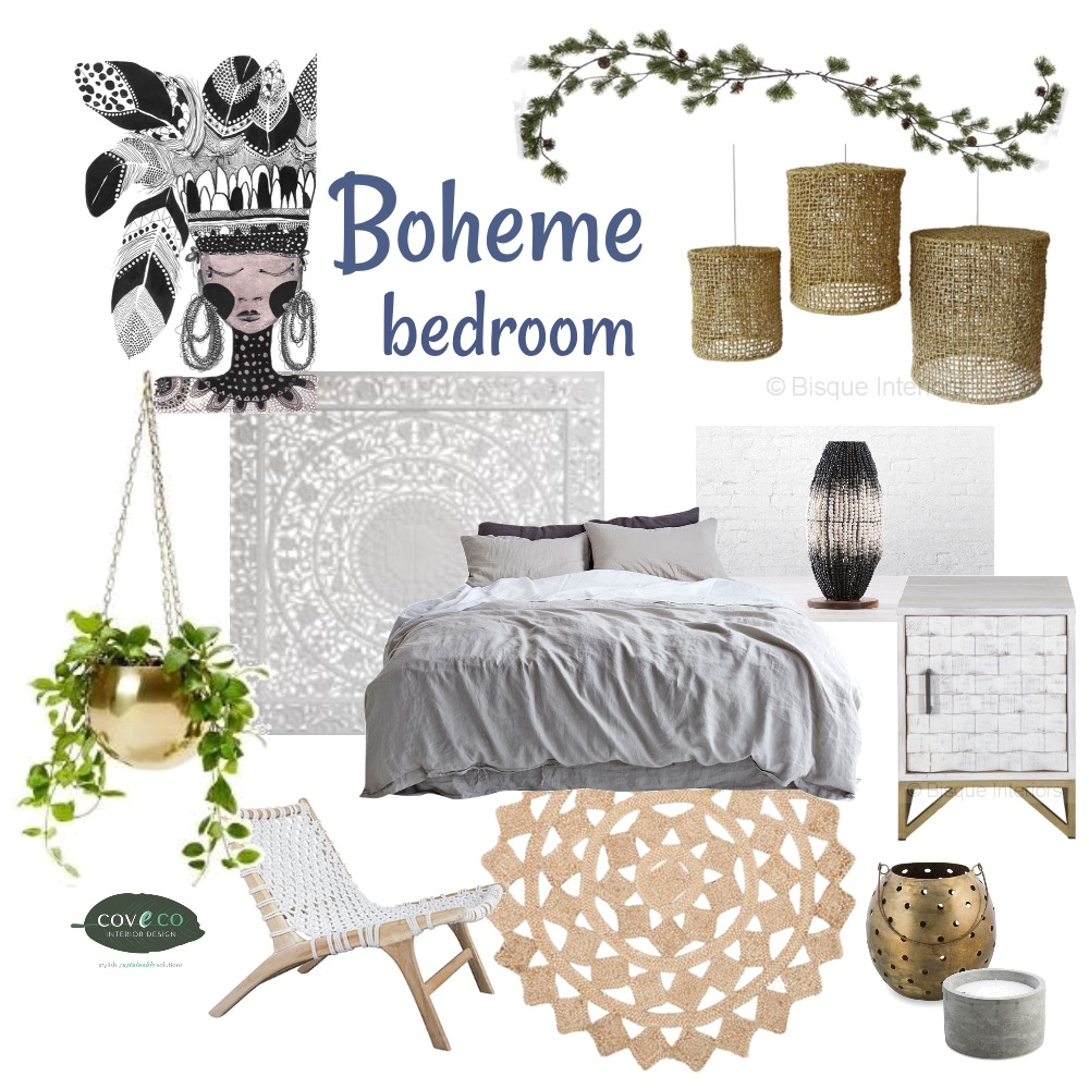 Boheme bedroom Mood Board by Coveco Interior Design on Style Sourcebook
