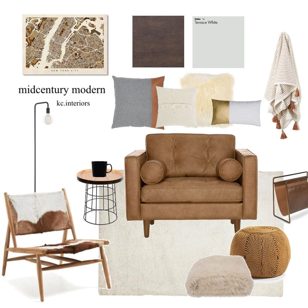 Mid century modern Interior Design Mood Board by kcinteriors on Style Sourcebook