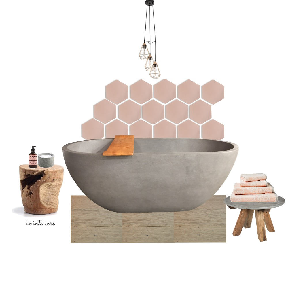 Blush + concrete Mood Board by kcinteriors on Style Sourcebook
