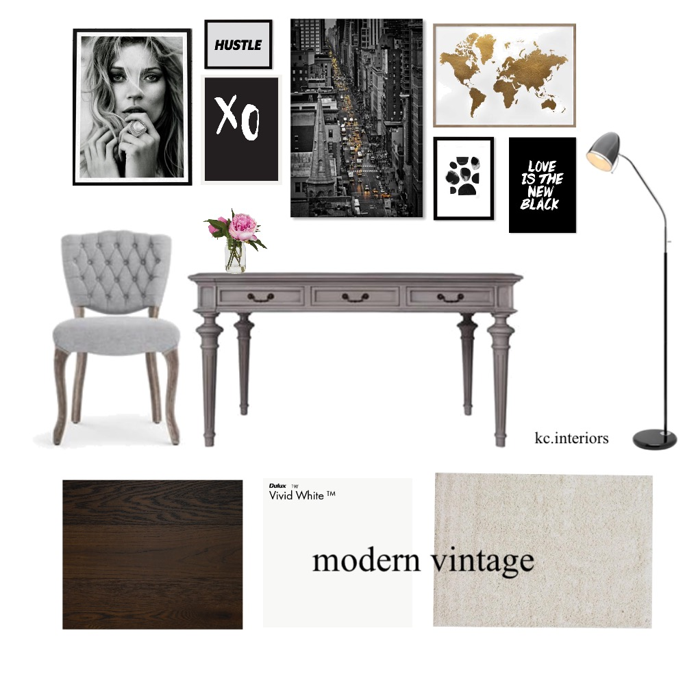 Modern vintage Interior Design Mood Board by kcinteriors on Style Sourcebook