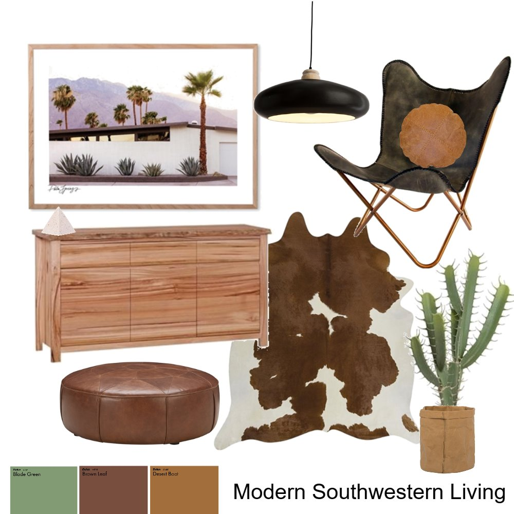 Modern Southwestern Living Mood Board by AnnabelFoster on Style Sourcebook
