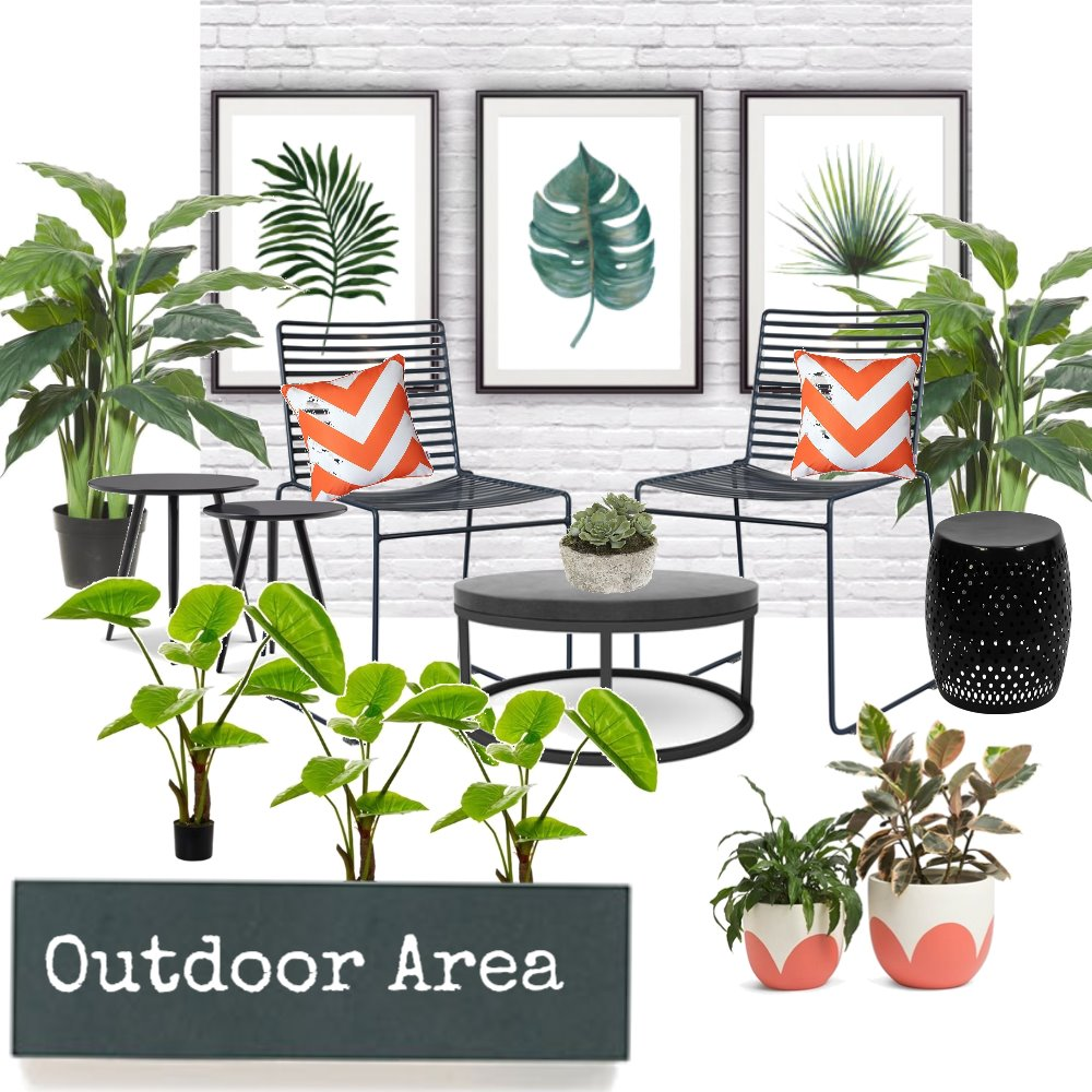 Outdoor Garden Area Interior Design Mood Board by AnnabelFoster on Style Sourcebook