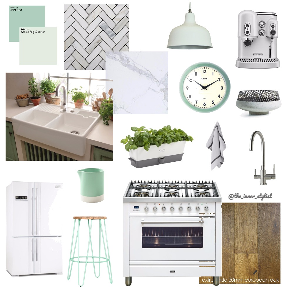 Mild Mint Kitchen Mood Board by Plant some Style on Style Sourcebook