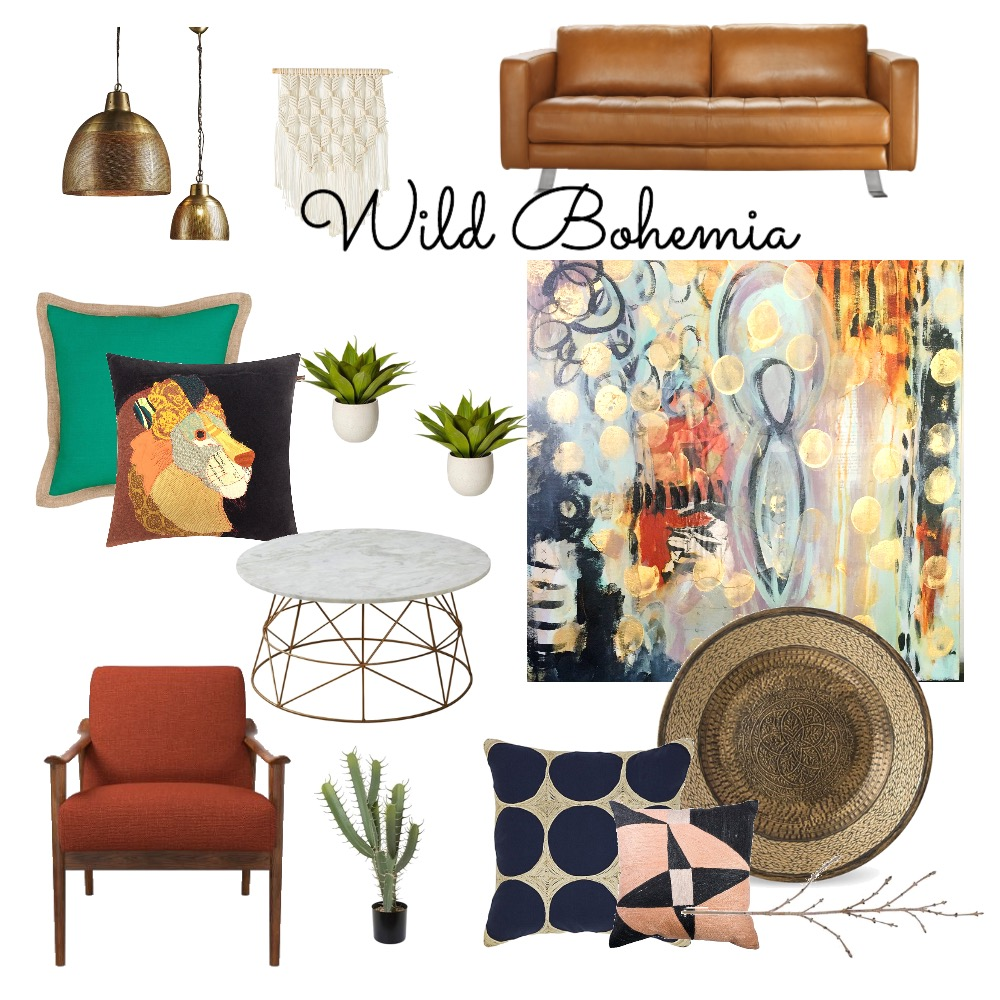 Wild Bohemia Mood Board by GreenStudioBlue on Style Sourcebook
