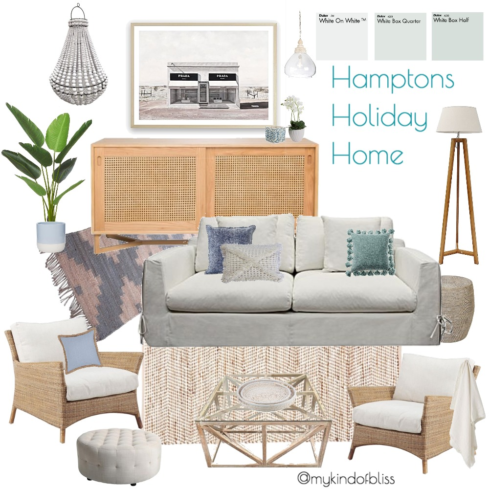 Hamptons Holiday Home Interior Design Mood Board by My Kind Of Bliss on Style Sourcebook