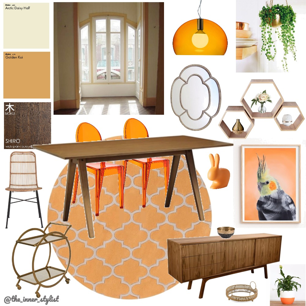 Tangerine Dreams Dining Mood Board by Plant some Style on Style Sourcebook