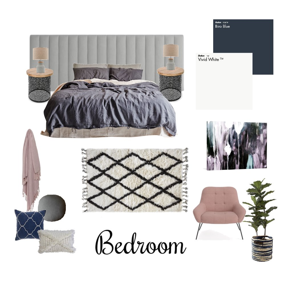 Master Bedroom Interior Design Mood Board by Reflective Styling on Style Sourcebook