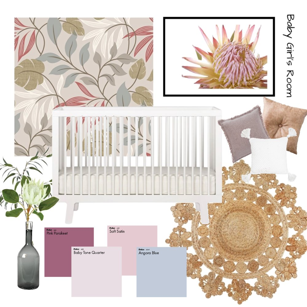 Girl's Nursery Mood Board by AnnabelFoster on Style Sourcebook
