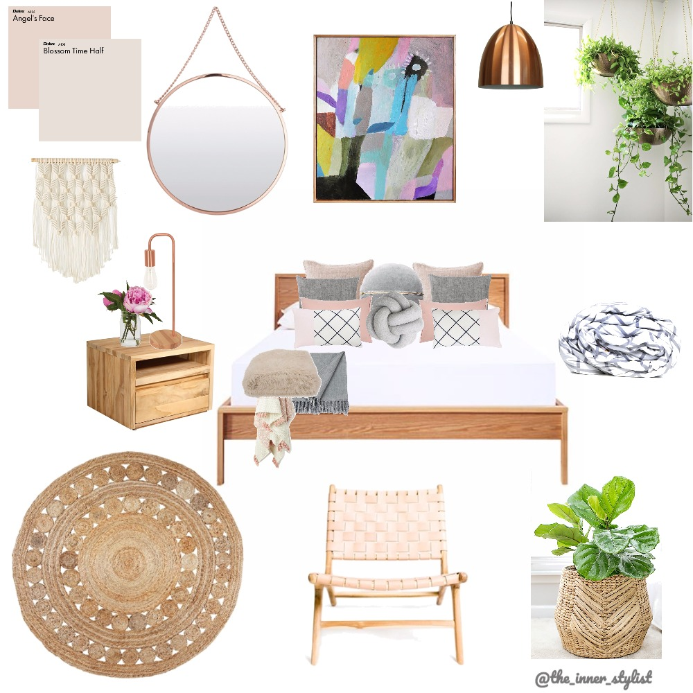 Relaxing Blush Bedroom Mood Board by Plant some Style on Style Sourcebook