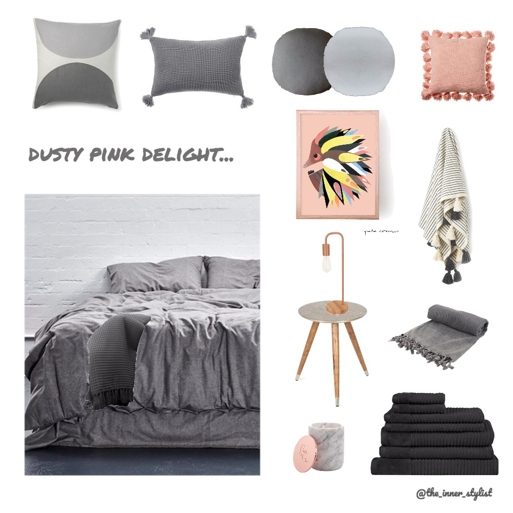 Dusty pink Delight Bedroom Mood Board by Plant some Style on Style Sourcebook