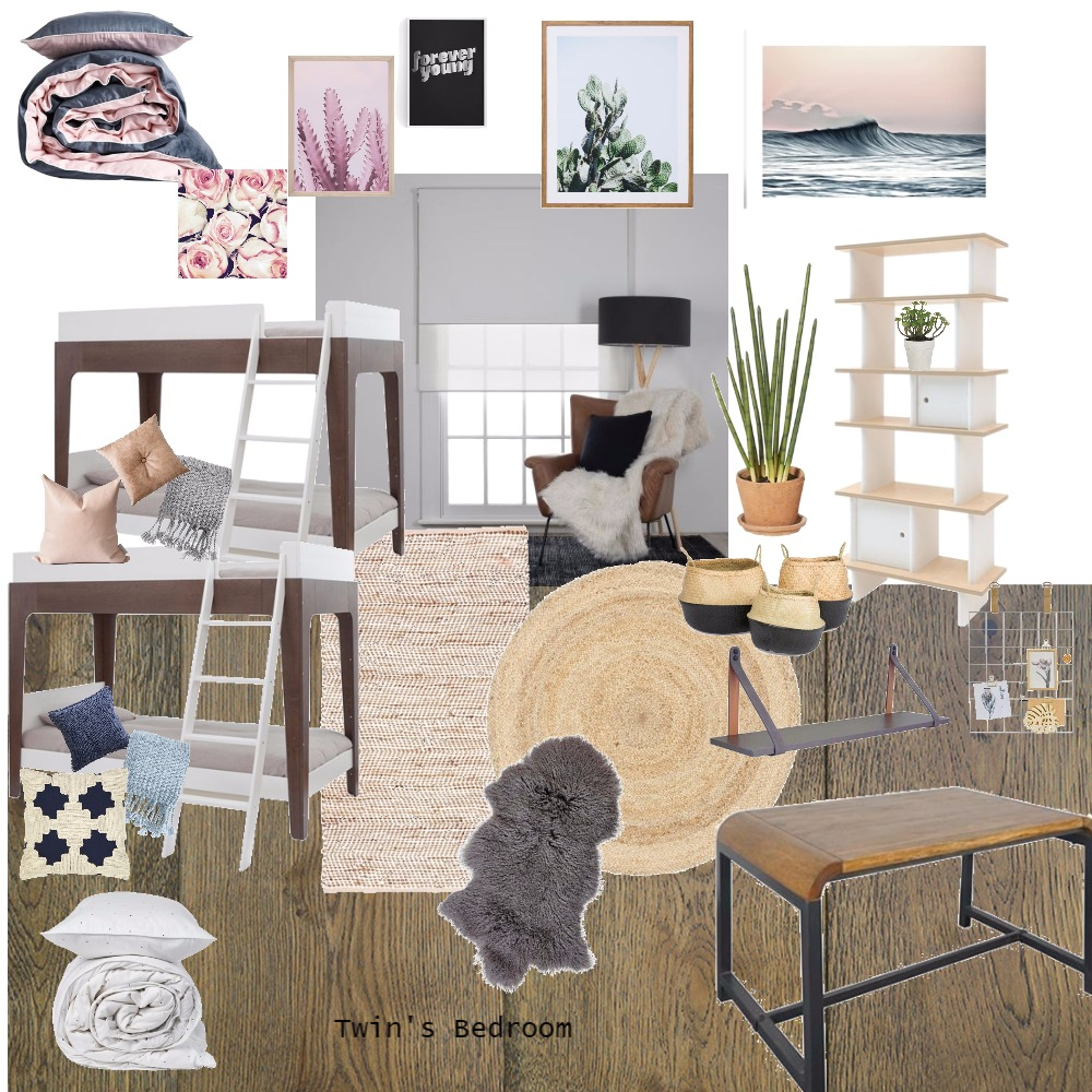 Twins Natural Bedroom Idea Mood Board by AllyCarter28 on Style Sourcebook