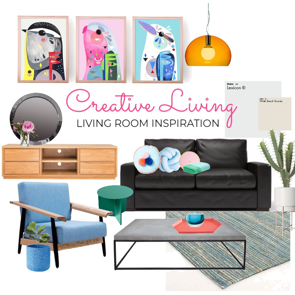 Creative Living Interior Design Mood Board by karenbakercreative on Style Sourcebook