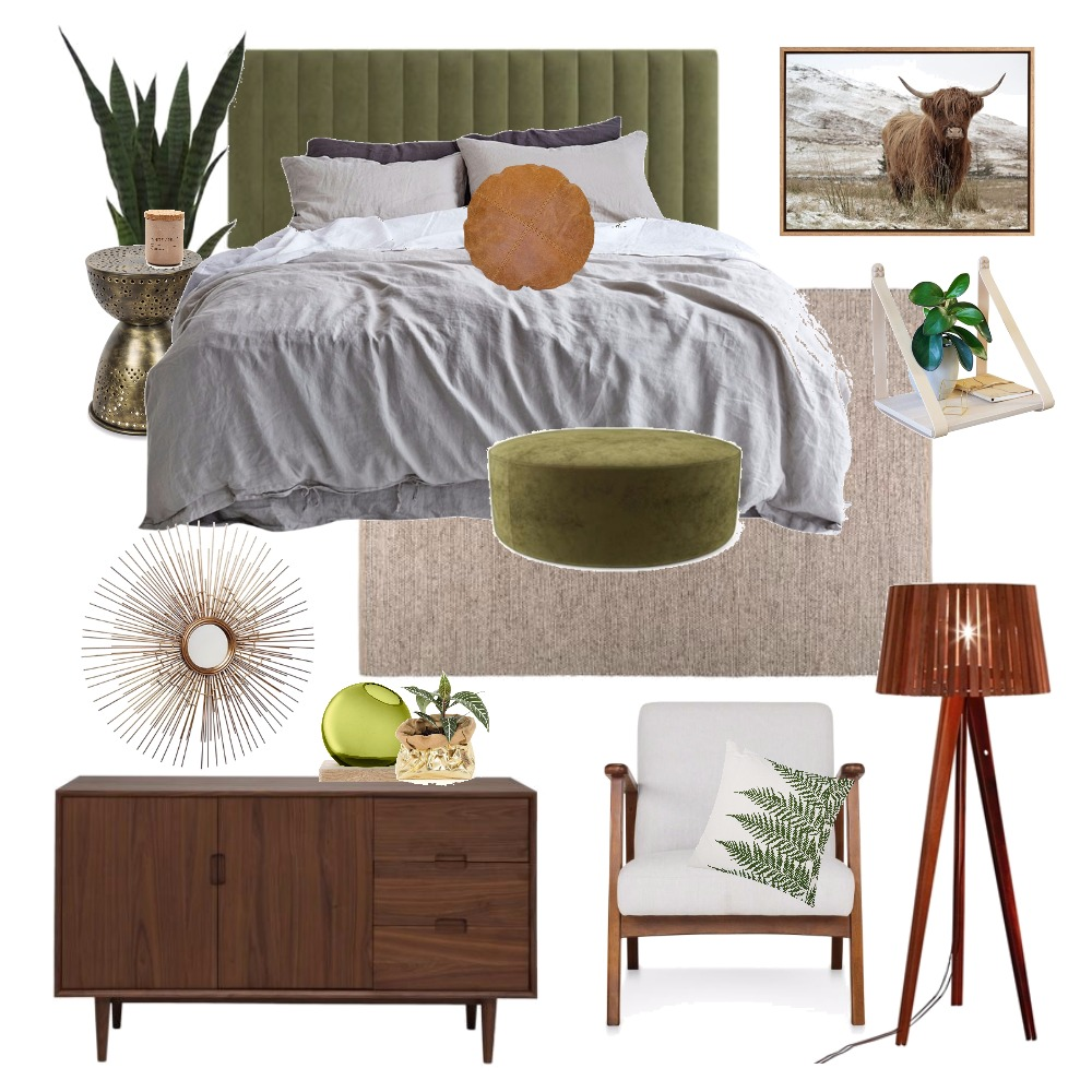 Olive Green Interior Design Mood Board by Thediydecorator on Style Sourcebook
