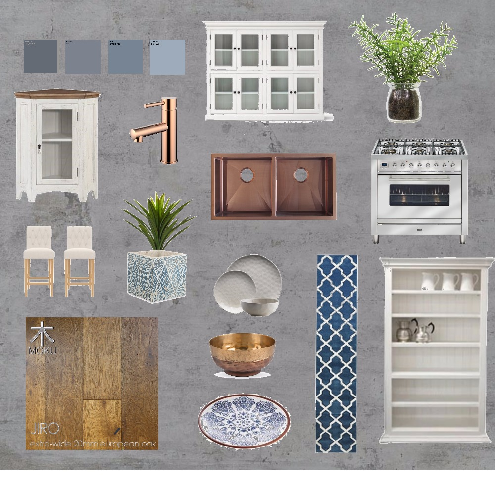 blue country kitchen Mood Board by betterhomesandhartleys on Style Sourcebook