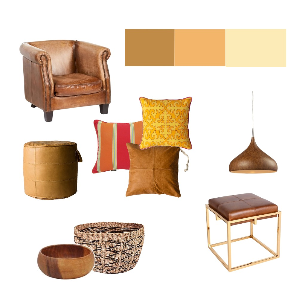 Warm and Sunny Earthy Living Mood Board by Cedar & Snø Interiors on Style Sourcebook