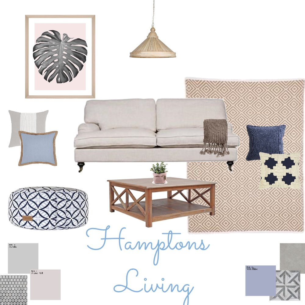 Hamptons Living Interior Design Mood Board by Cath089 on Style Sourcebook