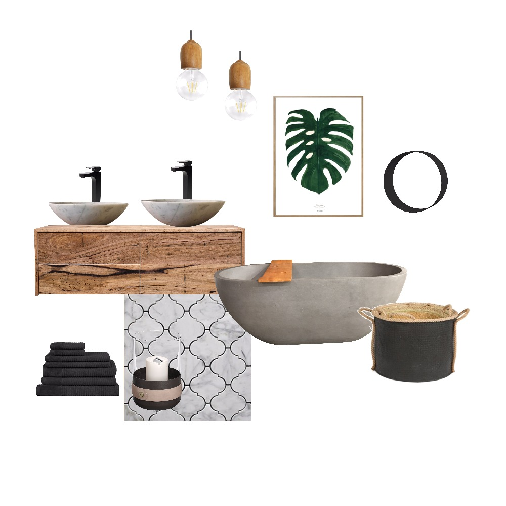Natural texture bahtroom Mood Board by Myhub on Style Sourcebook